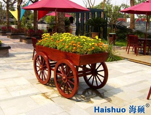 HS-HC-05景观花车防腐木