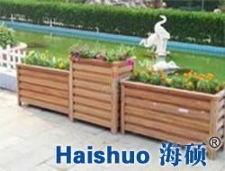 木纹铝合金高低组合花箱